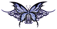 Nene Dragon Tribal Butterfly Jumbo Sticker