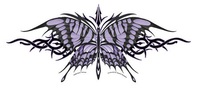 Ivory and Purple Tribal Butterfly 10