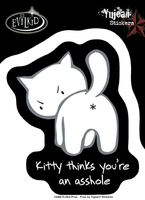 Kitty Asshole Sticker