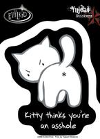 Kitty Asshole Sticker