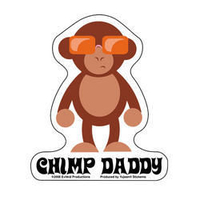 Chimp Daddy Sticker