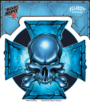 9f29a8e7141de Hot Leathers Smoking Spiderweb Skull Sticker | CLEARANCE!!