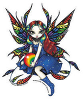 Jasmine's Midnight  Rainbow Fairy Sticker