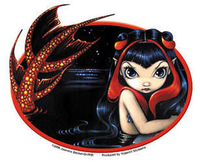 CLOSEOUT: Jasmine's Redtailed Mermaid Sticker