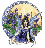 CLOSEOUT Celtic Violet Fairy Sticker
