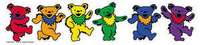 Grateful Dead Rainbow Dancing Bears Sticker