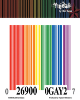 Gay Pride Rainbow Barcode Sticker