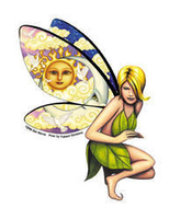 Dan Morris Claudia Fairy Sticker