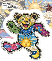 Dan Morris Grateful Dead Dancing Bear Sticker