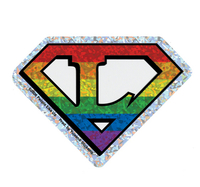 Diamond Cut Lesbian Pride Sticker