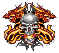 The Heat Skull and Dragons Sticker