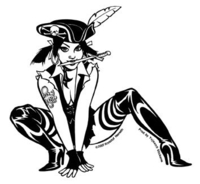 CLOSEOUT: Punky Pirate Girl Pinup Sticker