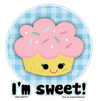 Kreemy Snack Kids I'm Sweet Cupcake Sticker