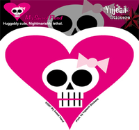 My Sweet Fiend Girly Skull Sticker