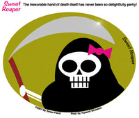 CLOSEOUT Sweet Reaper Girly Skull Sticker