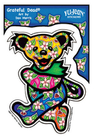 Tropical Grateful Dead Dancing Bear Sticker