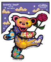 Grateful Dead Dancing Bear With Rose Sticker