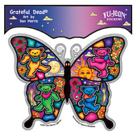 Grateful Dead Dancing Butterfly Sticker