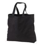 Cotton Tote Bag Black Canvas