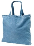 Grateful Dead Cotton Tote Bag, Washed Denim