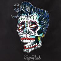 Sunny Buick Rocker Sugar Skull Tote Bag