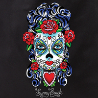 Sunny Buick Butterfly Eyes Sugar Skull Tote Bag