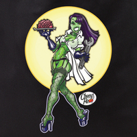 Derek Tall Zombie Pinup Girl Tote Bag