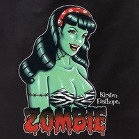 Kirsten Easthope Zombie Retro Pinup Girl Tote Bag