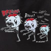 Dr Krinkles Brains, Brains Zombie Tote Bag