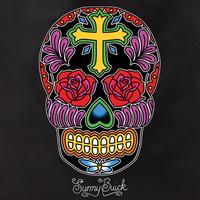 Sunny Buick Rose Cross Sugar Skull Tote Bag