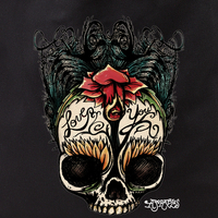 Agorables Love You Rose Sugar Skull Tote Bag