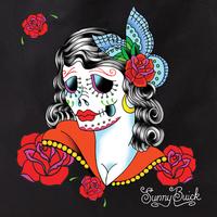 Sunny Buick Lady sugar skull Tote Bag