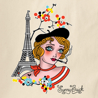 Sunny Buick Eiffel Tower Tote Bag