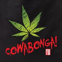 Frank Wiedemann Cowabonga Pot Leaf Tote Bag