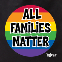 All Families Matter Rainbow Pride Tote Bag
