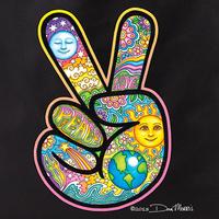 Dan Morris Peace Hand Tote Bag