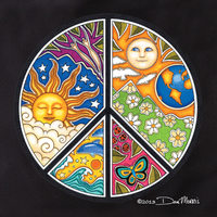 Dan Morris Peace Sign Tote Bag