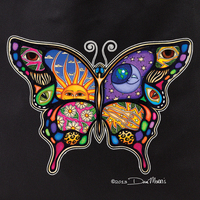 Dan Morris Day/Night Butterfly Tote Bag