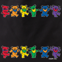 Grateful Dead 2 Rows of Bears Tote Bag