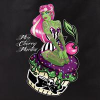 Miss Cherry Martini Cupcake Zombie Girl Tote Bag