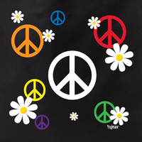 peace and daisies tote