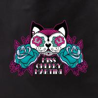 Cherry Martini Sugar Skull Kitty Tattoo tote