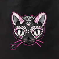 Cherry Martini pink cat tote