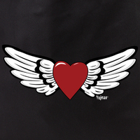 winged heart tote