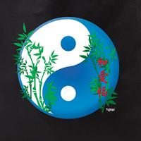 yin yang peace love happy tote