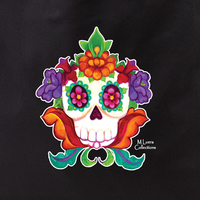 MLuera's Flowery Sugar Skull Tote Bag