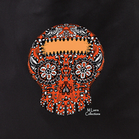 MLuera Orange Sugar Skull Tote Bag