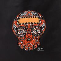 MLuera Orange Sugar Skull Tote Bag