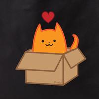 Evilkid Boxcat tote