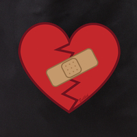 Evilkid healed heart tote